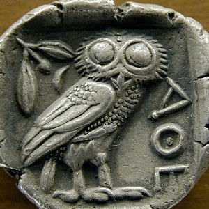 owl on Athens coin