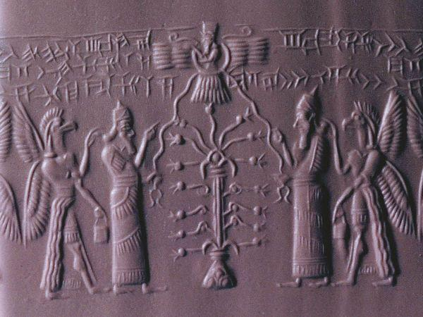 Assyrian cylinder seal with Tree of Life