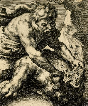 Samson with lion and bees